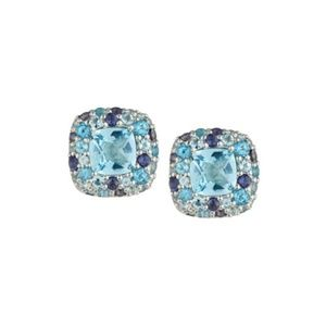 John Hardy Batu Klasik Mixed-Gem Button Earrings
